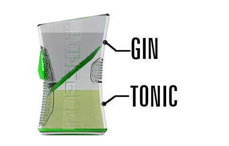 Gin Tonic Flipshot dual shotglass