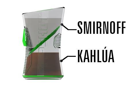 Kahlua Rum Flipshot Shotglass
